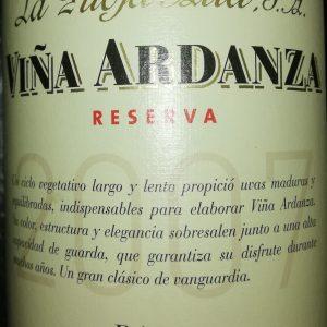 Viña Ardanza Reserva, 2007