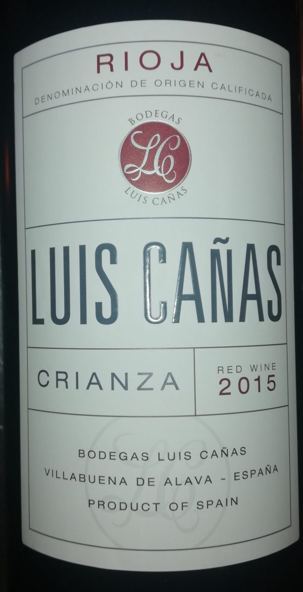 Luis Cañas Crianza Magnum, 2015